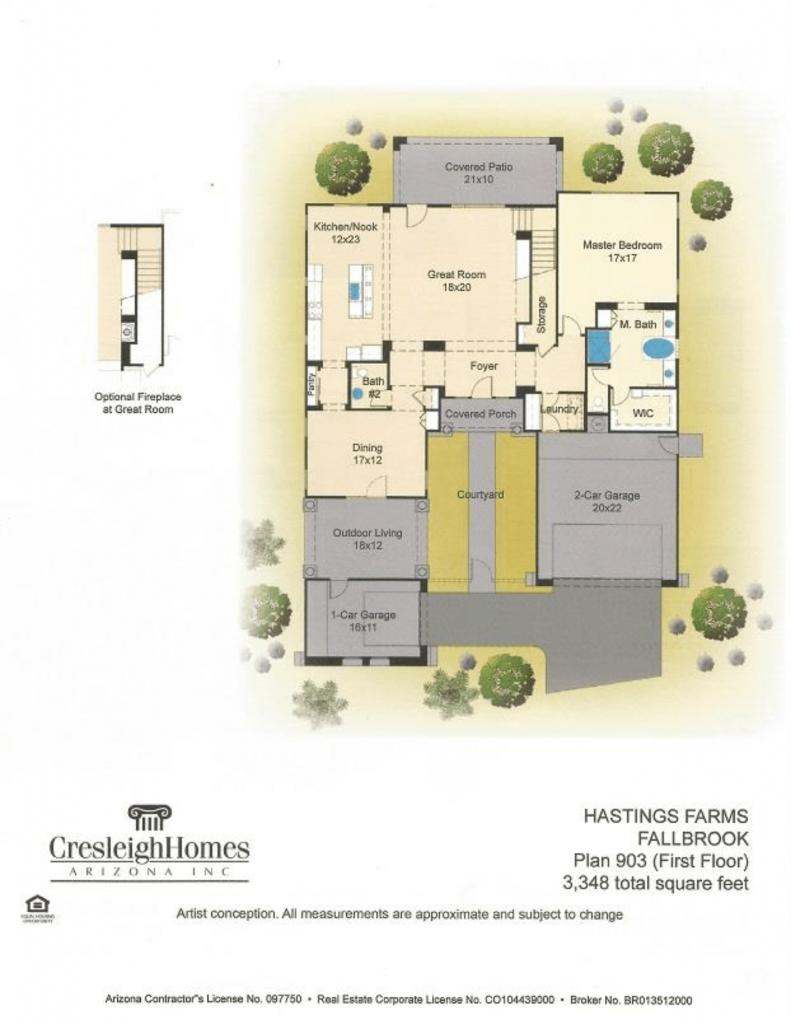 Fallbrook Floor Plan - First Floor