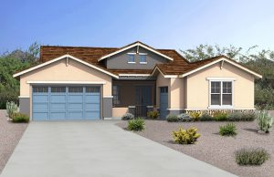 Rendering of Craftsman Model Home