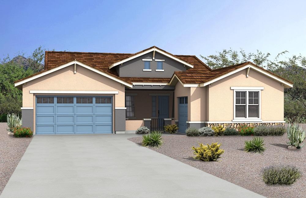 Rendering of Craftsman Model Home