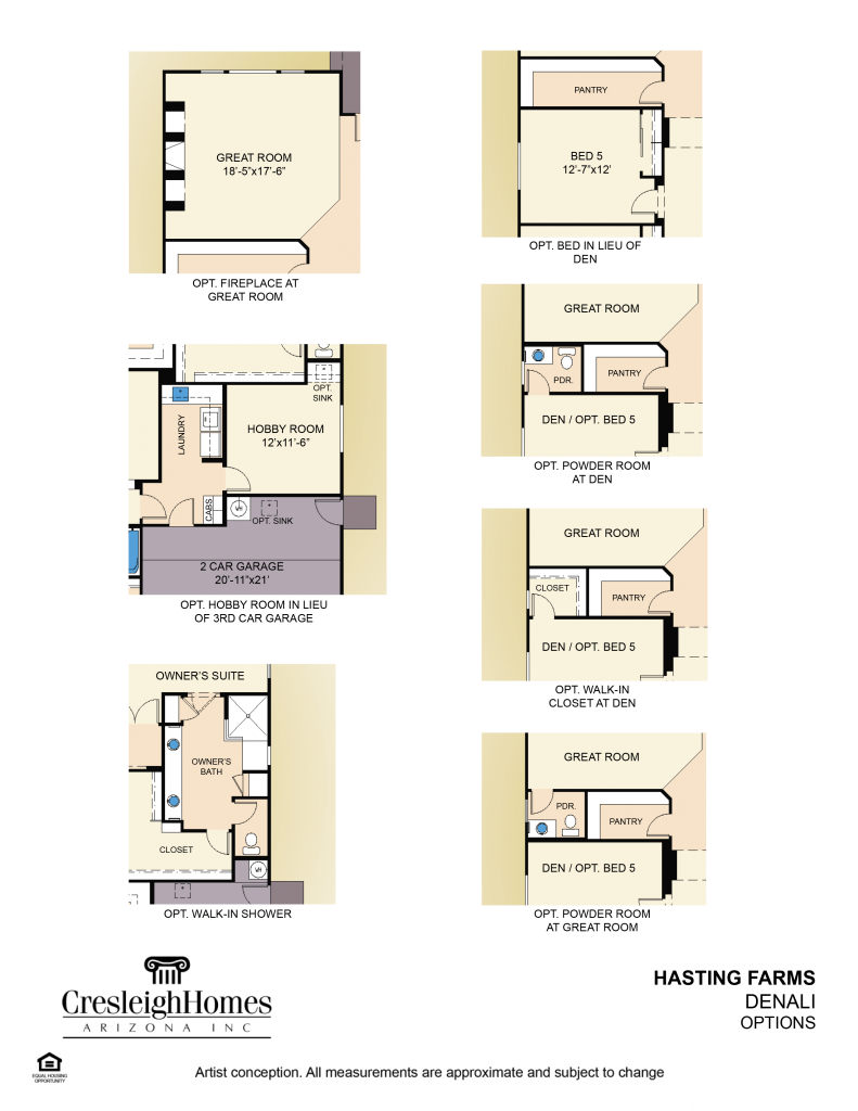 Denali Floor Plan - Second Floor