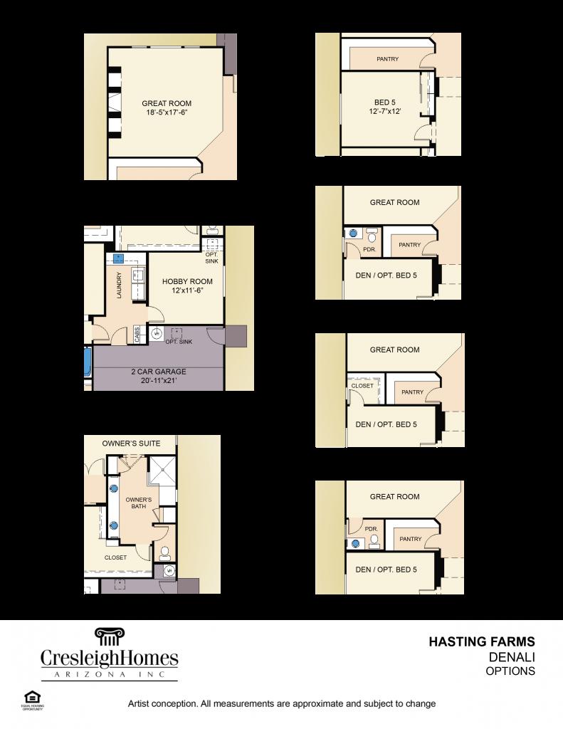 Denali Floor Plan - Second Floor