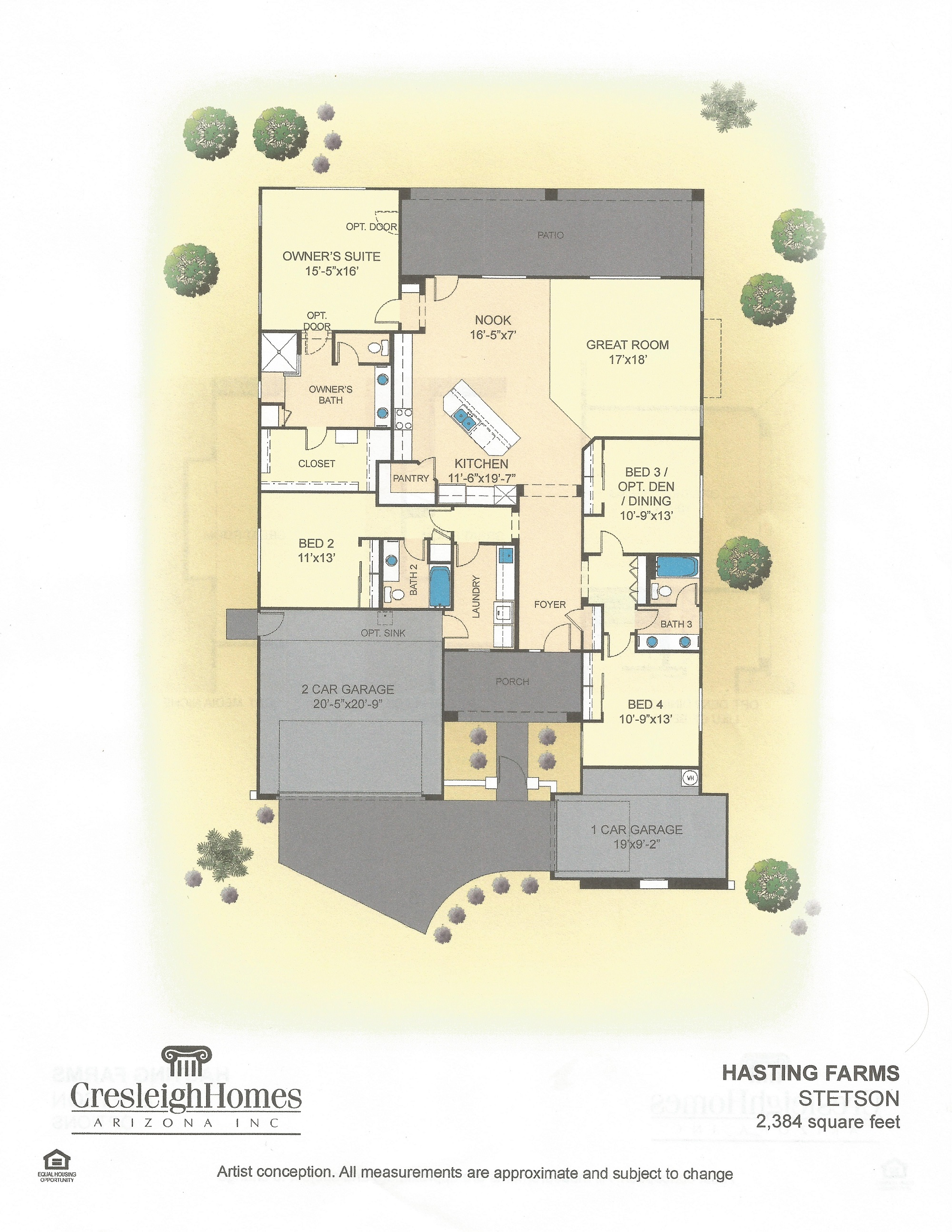 Stetson at hastings farms for Stetson homes floor plans