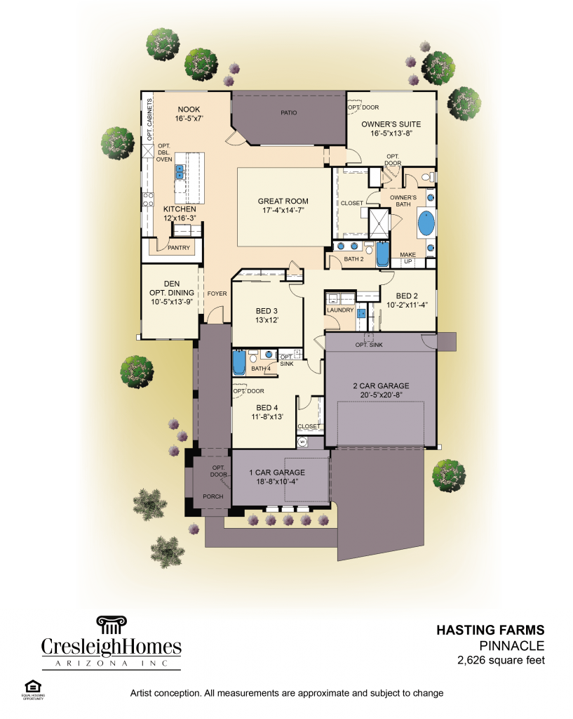 Pinnacle Floor Plan - First Floor